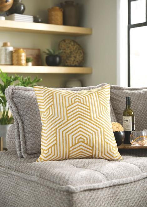 Adrik Golden Yellow Pillow  (4/CS)