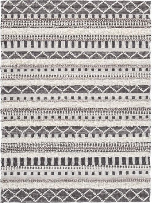 Karalee Ivory/Brown Medium Rug