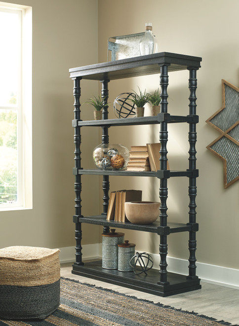 Dannerville Antique Black Bookcase