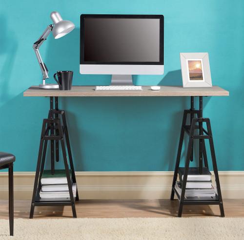 Irene Gray Adjustable Height Desk