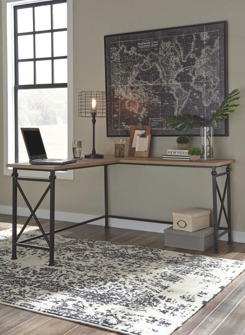 Jaeparli Grayish Brown L-Desk
