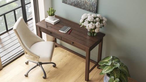Camiburg Warm Brown Desk & Swivel Desk Chair