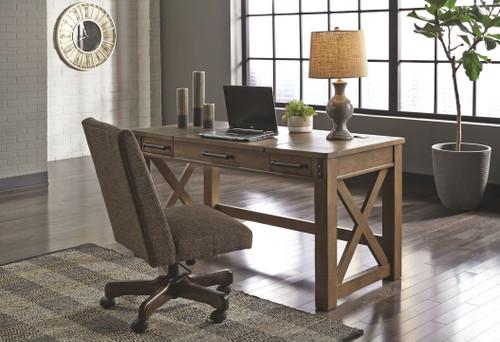 Aldwin Gray Lift Top Desk & Swivel Desk Chair