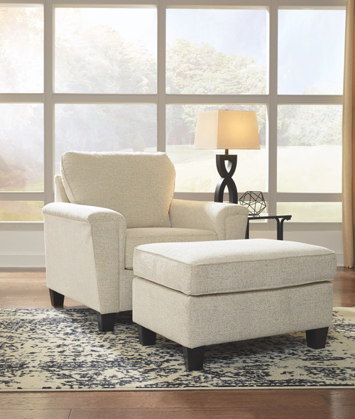 Abinger Natural Chair with Ottoman