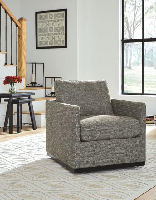 Grona Earth Swivel Accent Chair
