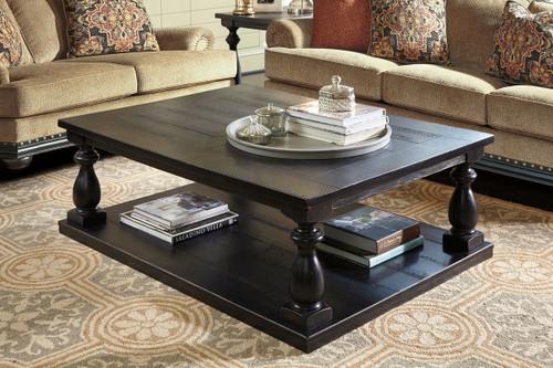 Mallacar Black Rectangular Cocktail Table