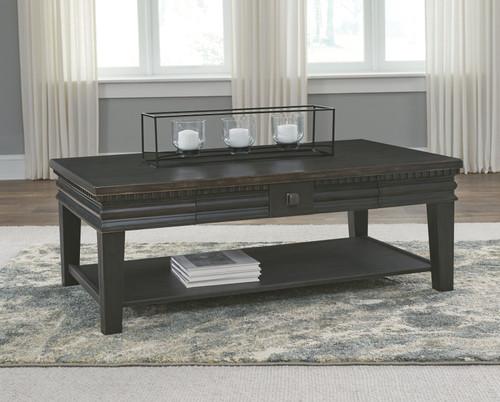 Miniore Black Rectangular Cocktail Table