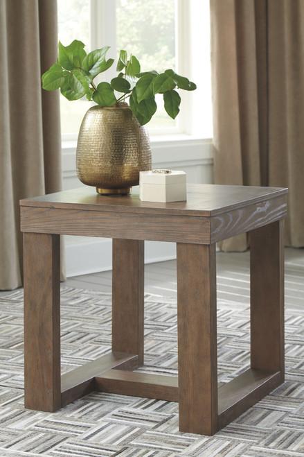 Cariton Gray Square End Table