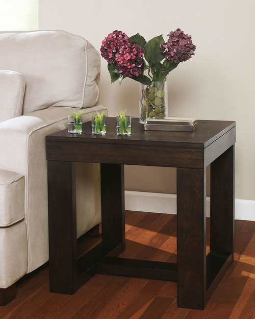 Watson Dark Brown Square End Table