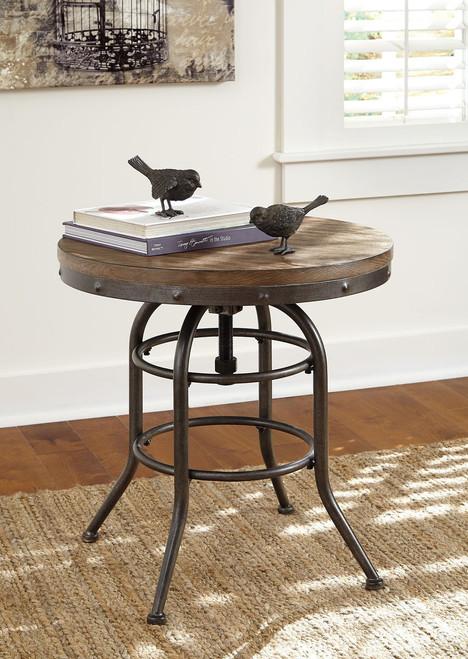 Vennilux Grayish Brown Round End Table