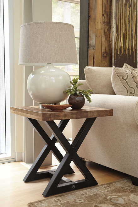 Wesling Light Brown Square End Table