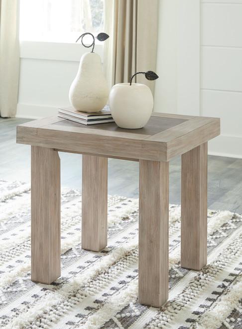 Hennington Light Brown Rectangular End Table