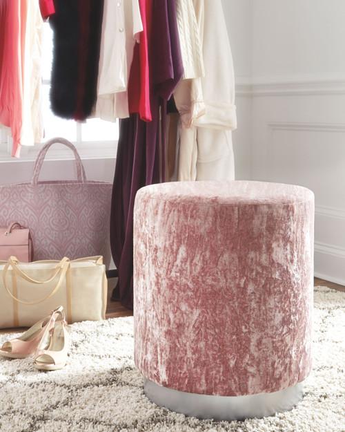 Lancer Blush Pink Accent Ottoman