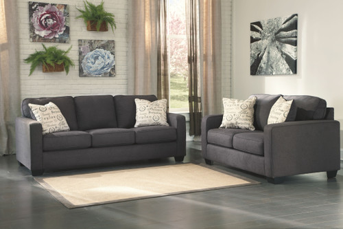 Alenya Charcoal Sofa & Loveseat
