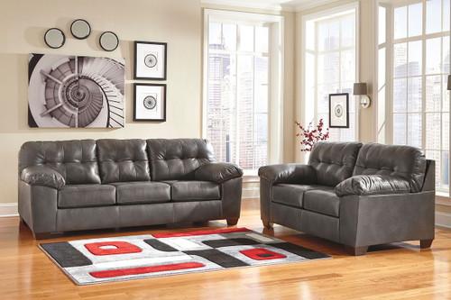 Alliston DuraBlend® Gray Sofa & Loveseat
