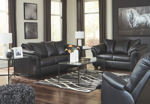 Betrillo Black Sofa, Loveseat & Rocker Recliner