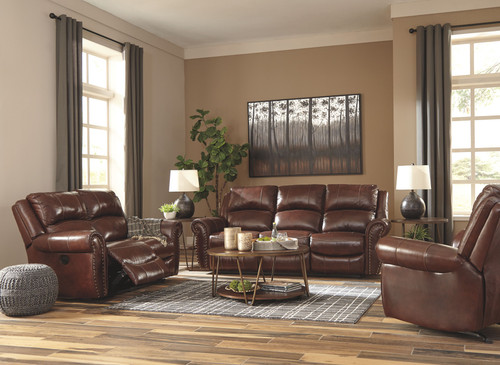 Bingen Harness Reclining Sofa, Reclining Loveseat & Rocker Recliner