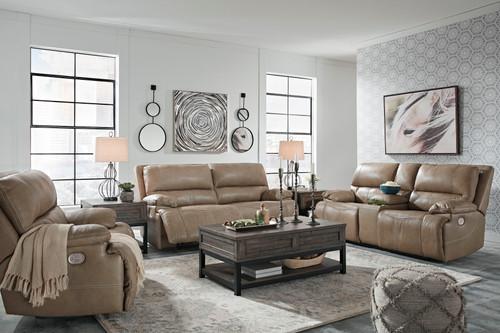 Ricmen Putty 2 Seat Power Reclining Sofa ADJ HDRST, Power Reclining Loveseat/CON/ADJ HDRST & Wide Seat Power Recliner