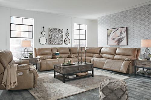 Ricmen Putty 2 Seat Power Reclining Sofa ADJ HDRST, Wedge, Power Reclining Loveseat with CON/ADJ HDRST Sectional & Wide Seat Power Recliner
