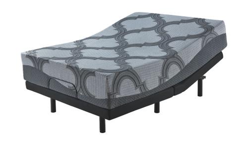 12 Inch Ashley Hybrid Gray King Mattress & Adjustable Base