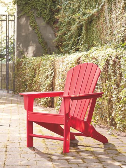 Sundown Treasure Red Adirondack Chair