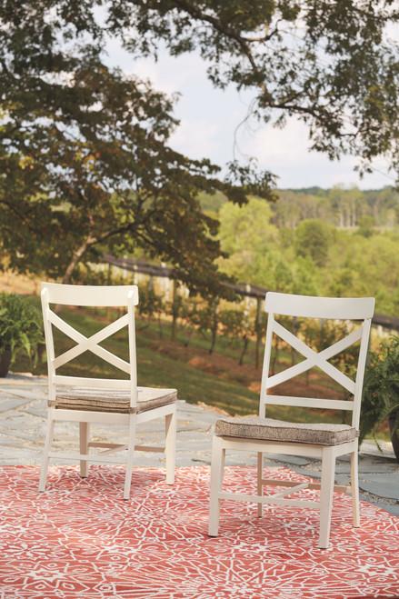 Preston Bay Antique White Chair with Cushion