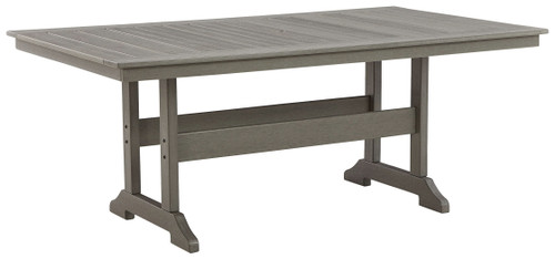 Visola Gray RECT Dining Table w/UMB OPT