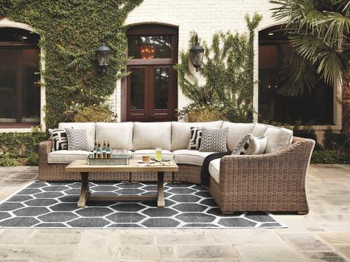 Beachcroft Beige Sectional Lounge Set