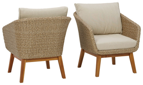 Crystal Cave Beige Lounge Chair w/Cushion (2/CN)