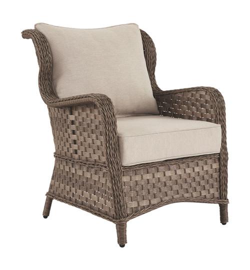 Clear Ridge Light Brown Lounge Chair w/Cushion (2/CN)
