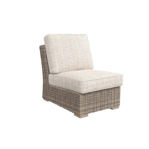 Beachcroft Beige Armless Chair w/Cushion