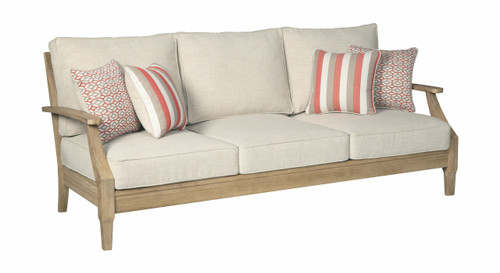 Clare View Beige Sofa with Cushion