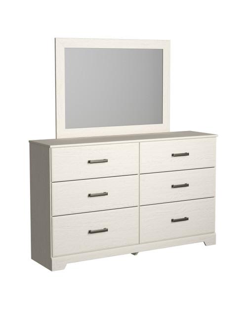 Stelsie White Bedroom Mirror