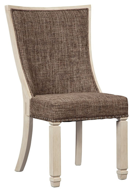 Bolanburg White / Brown / Beige Dining Upholstered Side Chair (Set of 2)