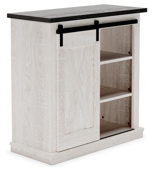 Dorrinson Antique White Accent Cabinet