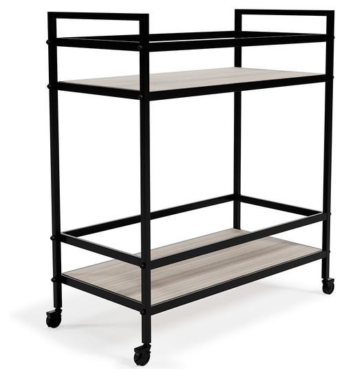 Waylowe Black/Tan Bar Cart