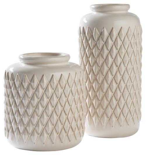 Edwinna Cream Vase Set (2/CN)