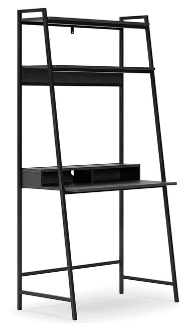 Yarlow Black Home Office Desk and Shelf