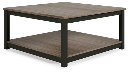 Showdell Gray/Black Square Cocktail Table