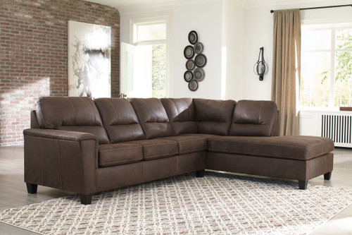 Navi Chestnut Sleeper Sectional with Chaise