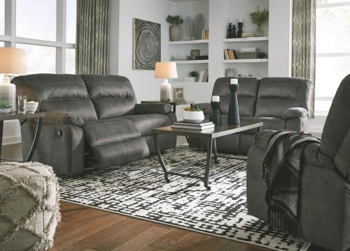 Bolzano Slate 3 Pc. 2 Seat Reclining Sofa, Reclining Loveseat, Rocker Recliner