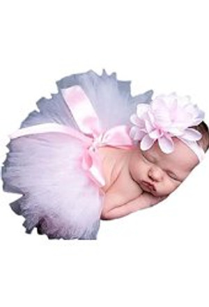 Pink Tu-tu Skirt and Headband