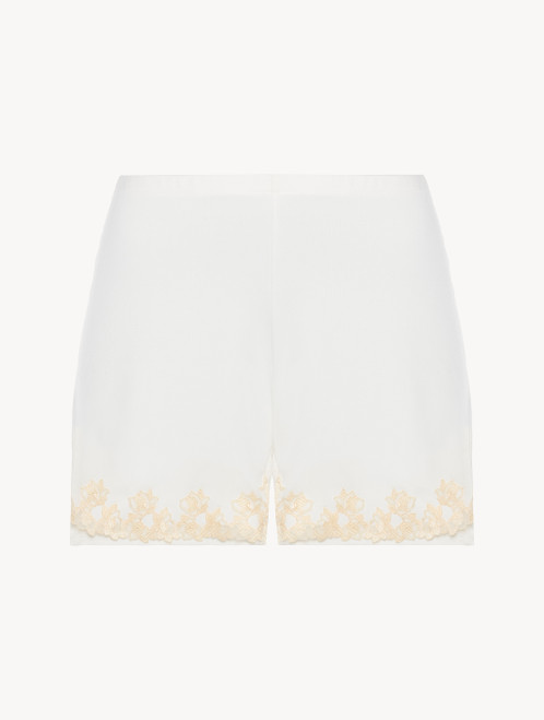 Short in jersey bianco