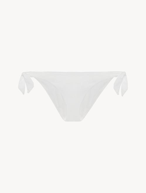Slip mare con laccetti off-white