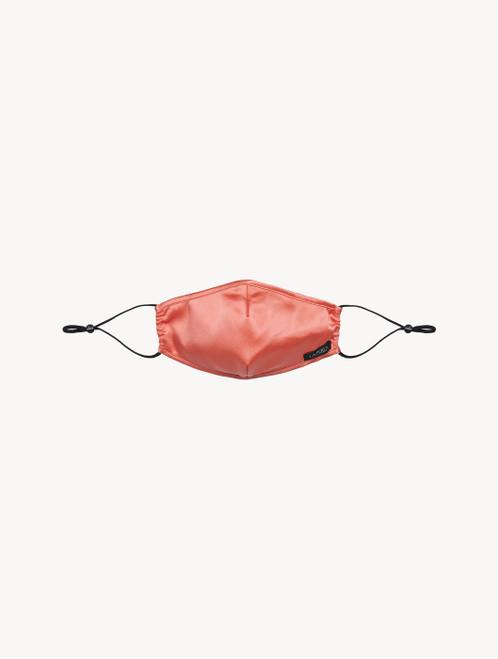 Mascherina in seta rosa