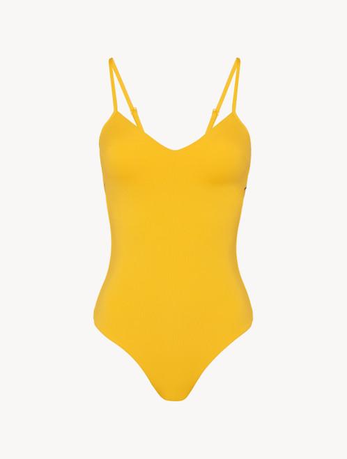 Costume intero imbottito giallo con logo