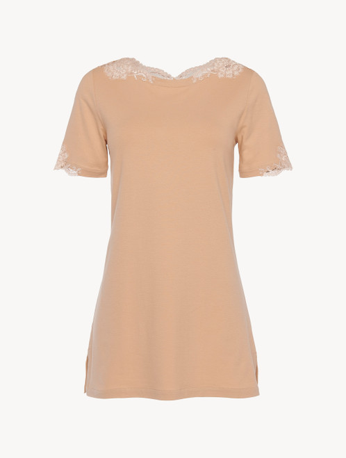 T-shirt in cotone nude