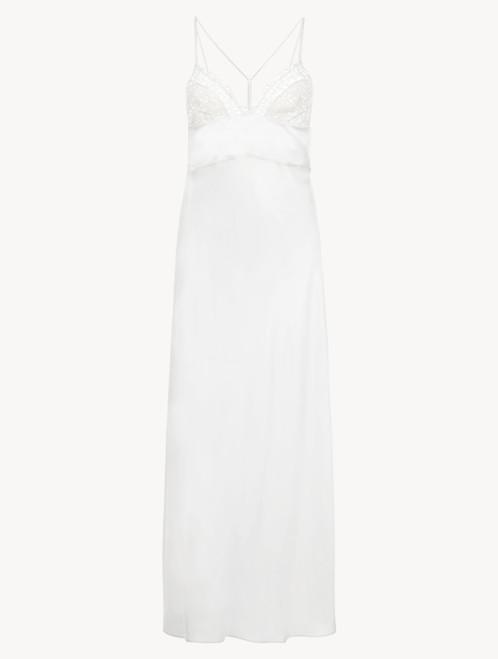 Camicia da notte lunga bianca