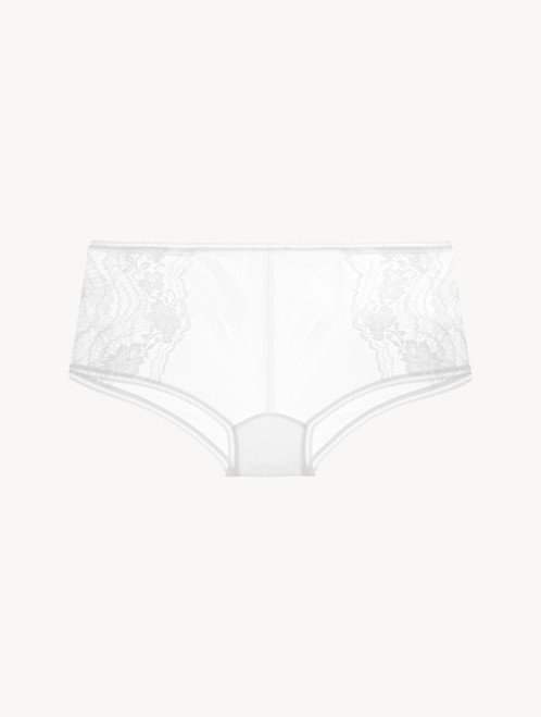 Short in pizzo Leavers off-white