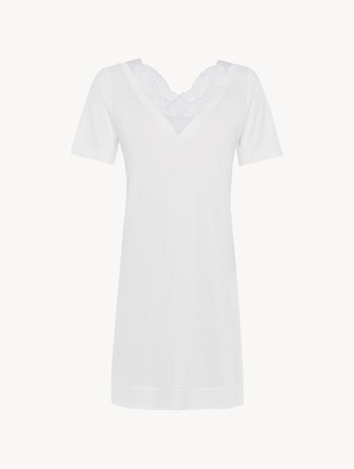 Camicia da notte corta in jersey modal soft white